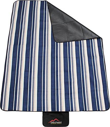 Outdoor Picknickdecke Campingdecke mit Tragegriff wasserdicht Farbe Blau gestreift