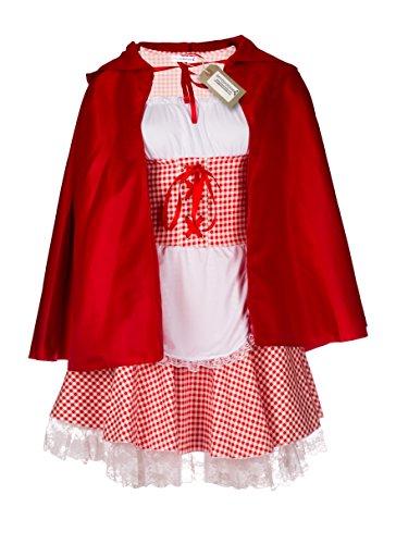 (Emmas Garderobe Rotkäppchen-Kostüm für Erwachsene - Enthält Kleid und roten Umhang mit Kapuze - Frauen-Abendkleid für Halloween oder Hen Parties - Made mit UK Größen 6-16 (Women: 40, Without Tights))