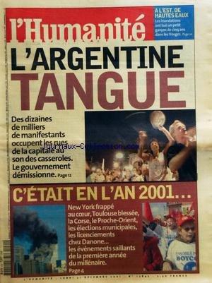 humanite-l-no-17847-du-31-12-2001-largentine-tangue-des-manifestants-occupent-les-rues-cetait-en-lan