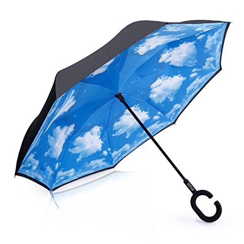Regenschirm windstabil anti-rayonnement Innovatives Design Reverse Doppel Schicht Reise Klassische faltbar