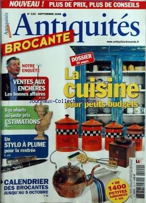 ANTIQUITES BROCANTE [No 122] du 01/09/2008