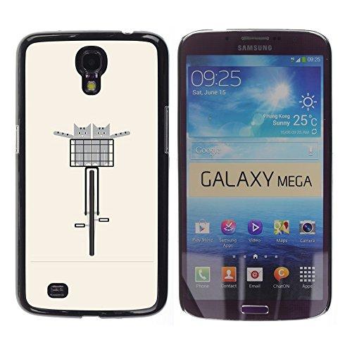 WonderWall Carta Da Parati Immagine Custodia Rigida Protezione Cover Case Per Samsung Galaxy Mega 6.3 (Pesche Vita Bassa Dei Pantaloni)