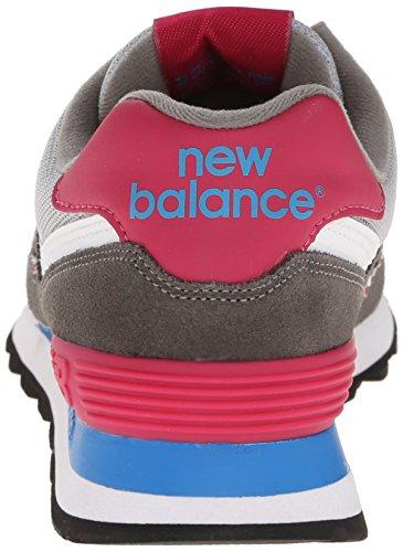 New Balance WL574 B, Baskets mode femme Gris (Cpw Grey/Pink)