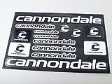 Cannondale Fahrradrahmen Aufkleber Aufkleber Grafik Set Vinyl Adesivi (Schwarz-Weiss)