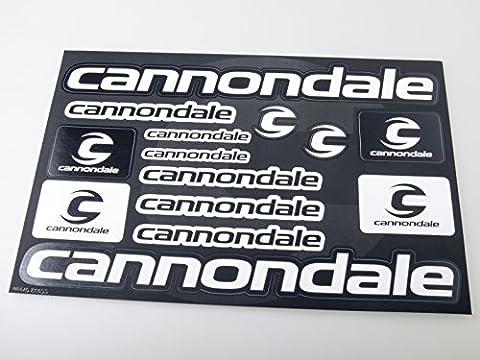 Cannondale Autocollants pour vélo Autocollants Autocollants Autocollants Vinyl Adesivi (Noir - Blanc)