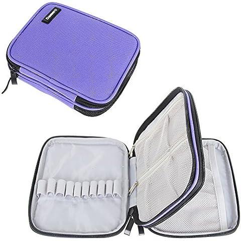 Damero Caso Zipper Organizzatore per uncinetto e accessori, Viola (No Accessori inclusi)