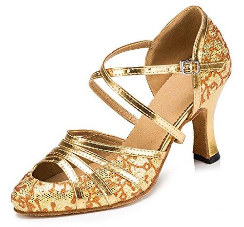 TDA - Strap alla caviglia donna 8cm Heel Floral Gold