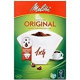 Melitta papier filtre à café authentique, blanc, lot de 80x 80x 4