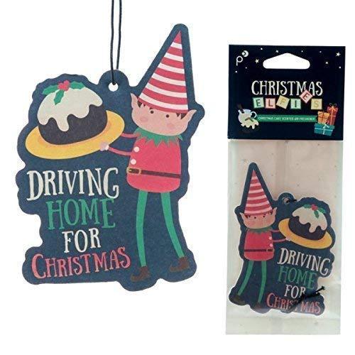 3 PIEZAS ambientador de coche Navideño - Duende - Conducción Hogar para Navidad