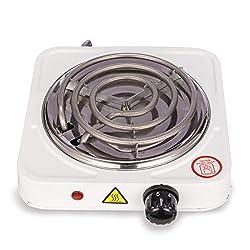 DXP Elektrischer Kochplatte Kohleanzünder für Shisha Wasserpfeife Heizplatte Kohlebrenner 1000 W - Einstellbare Temperatur