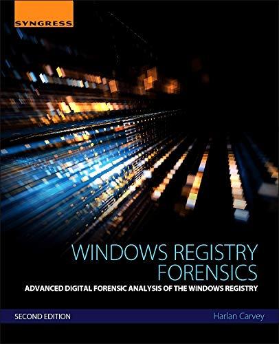 Windows Registry Forensics por Harlan Carvey