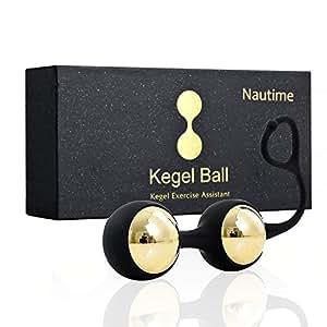 Nautime Palline di Kegel Balls Impermeabile Silicone, Pesi Kegel Palla di Esercizio, Tonifica i Muscoli Kegel, Migliora il Controllo Della Vescica e Combatte i Problemi d'incontinenza Kit Pelvico Esercizio per la Femmina (d'oro)