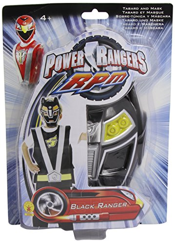 Rubie 's-Set Action Power Ranger, schwarz - Power Rangers Kostüm Sets