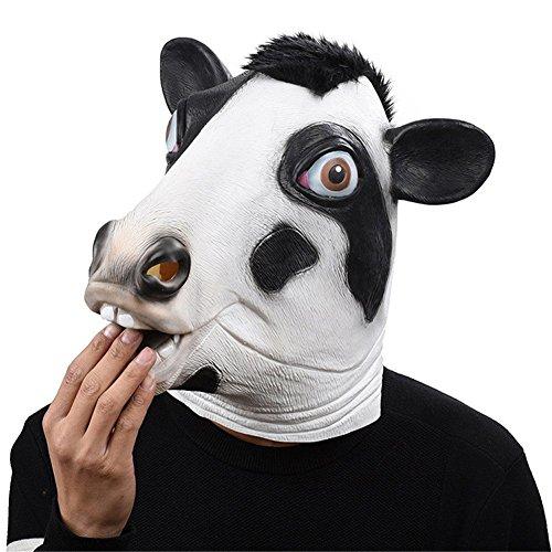Latex Tier Kuh Kopf Maske, Neuheit Kostüm Gummi Masken (Kleinkind Fußball Kostüm)