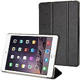 GMYLE iPad Mini 4 Case, Flip Cover Silk for iPad Mini 4 - Black Silk Slim Magnetic Three-fold Auto Wake and Sleep Smart Cover Case