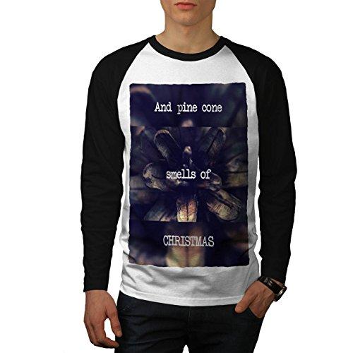 Kiefer Kegel Baum Weihnachten Ferien Herren S Baseball lange Ärmel T-Shirt   Wellcoda (Schnee Kegel Kostüm Ideen)