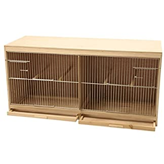 Duvo+ Kit Bird Breeding Cage in wood, 2 Parts for birds Duvo+ Kit Bird Breeding Cage in wood, 2 Parts for birds 51pfgbMq1qL