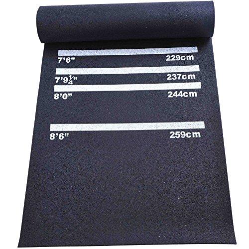 *Homcom Dart/Gummi-matte Dartzubehör für Steel/Soft-dart Teppich rutschfest Neu, B8-0005*