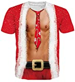 Goodstoworld Shirt Weihnachten T Shirt 3D Druck Herren Damen Printed Sommer Lustig Beiläufige Kurzarm Cooles T-Shirts Tee Top M