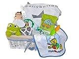 XXL Geschenkkorb zur Geburt für Jungen mit hochwertigen Markenartikeln für das Neugeborene inkl. Glückwunschkarte