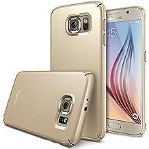 Galaxy S6 Funda - Ringke SLIM *** Cobertura Total de los 4-Sides & Back *** [GRATIS Pedregal Protector] [Royal Gold] Super Slim Ligera todo momento la protección del estuche rígido para Samsung Galaxy S6