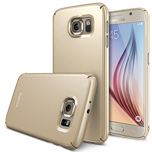 Galaxy S6 Custodia - Ringke SLIM Custodia [Tutto Intorno Protezione][Royal Gold] Super SLIM Doppio Rivestito Perfetta Vestibilità Premio Difficile Custodia per Samsung Galaxy S6 - Eco Pacchetto