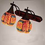 Vanme Bohemian Colored Wall Bathroom Mirror Lamp Bedside Lamp Bedroom Thai-Style Wall Lamp