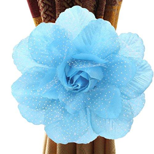 Bovake Gardine Duschvorhang Beste Pfingstrose Blume Vorhang Clip-on Krawatte Rücken Holdback Raffhalter Panel (Colour D) Pfingstrosen Duschvorhang