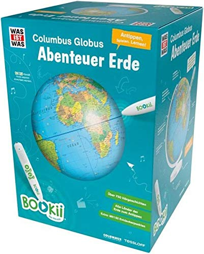 """BOOKii WAS IST WAS Columbus Globus \""""Abenteuer Erde\"""". Ohne Hörstift"""