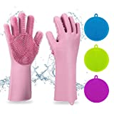 Best Dish Gloves - Magic SakSak Reusable Silicone Gloves with Wash Scrubber Review