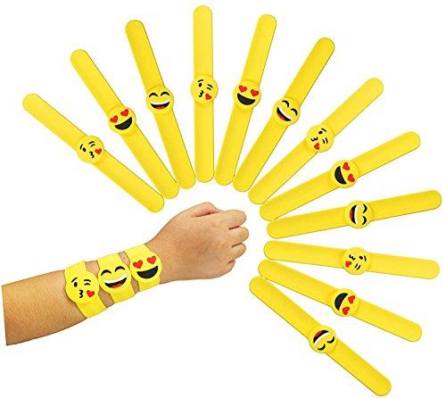 (Frmarche Snap Armbänder 16 PCS Schnapp Armband Emoji Geburtstagsfeier Snap-Band Kinder Erwachsene Geschenk Weihnachten Schule Klassenzimmer Belohnungen (A))