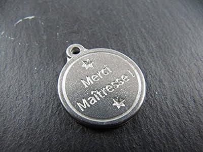 Médaille en étain 17mm - Merci Maîtresse