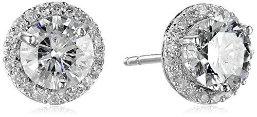 platinum-over-sterling-silver-vg-moissanite-framed-round-stud-earrings