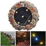 Fansport Garden Light Simulated Stone 5 LEDs Bodenleuchte Bodeneinbauleuchte