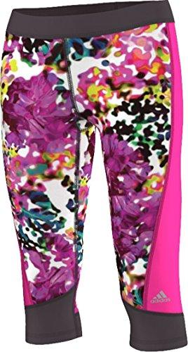 adidas Damen Tech Fit Capri, Damen, Multicolor/Floral Explosion, xs Floral Capri Cropped Pants