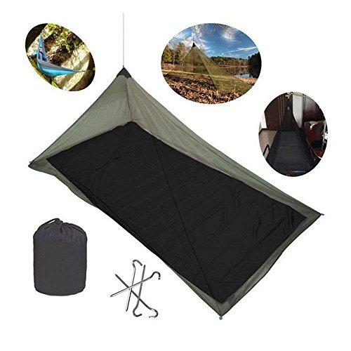 Wuudi Moskitonetz, Outdoor Camping Moskitonetz Mückennetz Mückenschutz Camping Bett Net mit 4Underground Nägel