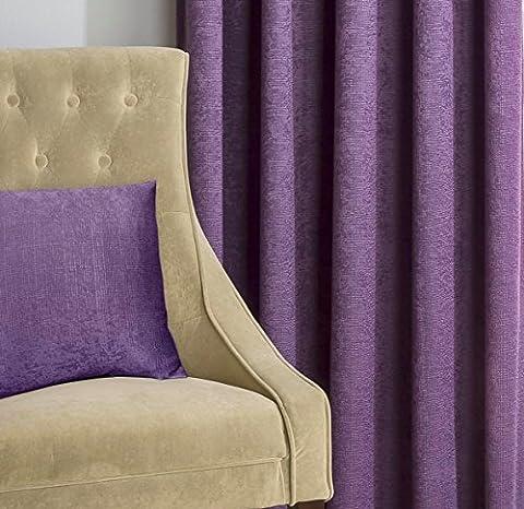 "Matrix Grape Lila strukturiertes Thermo Blockout Faltenband TOP Vorhänge, Polyester, Violett (Grape Purple), 17"" x 17"" Cushion Cover"