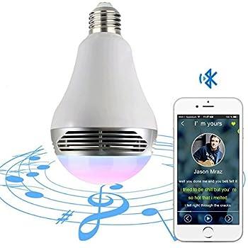 Magichue Neu Farbige Leuchtmittel Sunset Smart Led Bluetooth Lampe Dimmbar Sonnenuntergang E27 Und E26 16 Mio Farben Fuer Android Und Ios (6w Farben Lampe+3w Speaker) 10