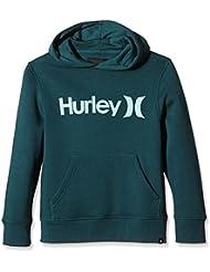 Hurley Fleece One & Only Pullover - Sudadera con capucha para niño, color Azul, talla L