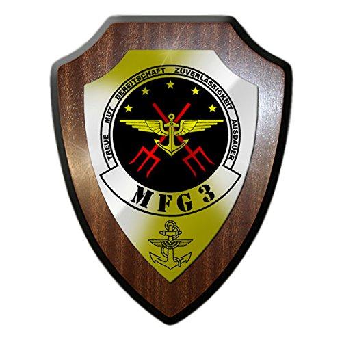 Wappenschild/Wandschild -MFG 3 Marinefliegergeschwader Wappen Bundeswehr Pilot Staffel Geschwader Reservist Zep Marine #18154