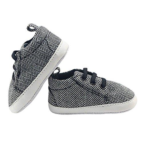 Hankyky Baby Kind Mädchen Junge Anti Skid Weiche Sohle Lauflernschuhe Sneaker Krippeschuhe Kleinkind Schuhe Canvas (0 ~ 18 Monate) A