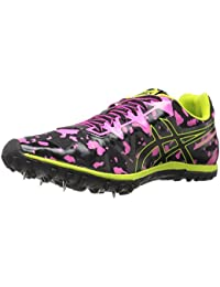 ASICS Women's Cross Freak 2 Cross-Country Running Shoe Hot Pink/Black/Neon Lime 5 B(M) US