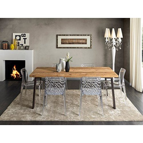 EsteaMobili estea Meubles – Table Design en Bois Massif conifère Vieille – Art. PT 003 GA 003