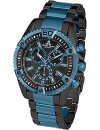 Jacques Lemans Herren-Armbanduhr XL Liverpool Professional Chronograph Quarz Edelstahl beschichtet 1-1805I