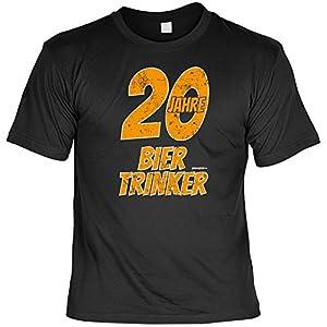 Geschenk zum 20. Geburtstag - lustiges Geburtstagssprüche T-Shirt 20 Jahre Biertrinker 20 Jahre cooles Motiv für Männer Gr. S in schwarz : )