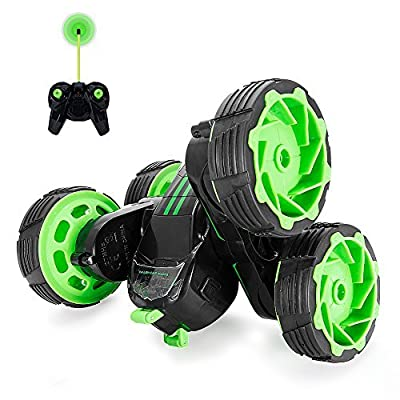 Maketheone Remote Control Dragon Toy for Kids, RC Transformable Monster Truck, 2.4GHz Radio Controlled Vehicle, 360 Degree Stunt Rotating with Electronic Music & Colorful LED Lights by MakeTheOne