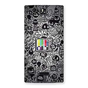Neo World Grey Pattern Back Case Cover for Micromax Canvas Nitro 2 E311