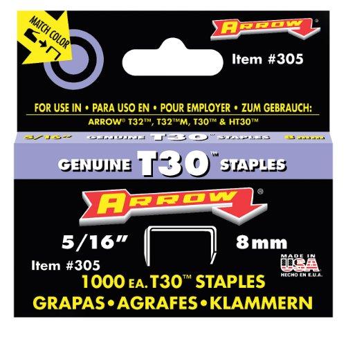 Arrow 031007 305 Boîte de 1000 Agrafes 8 mm pour Agrafeuse T30