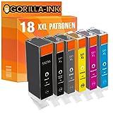 Gorilla-Ink® 18x Tinten-Patrone XXL kompatibel zu Canon PGI-550 XL CLI-551 XL mit Grau/Grey Pixma IP 8750 IX 6850