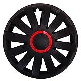 Autoteppich Stylers (Größe & Farbe wählbar) 15 Zoll Radkappen Race (Rot) passend für Fast alle Fahrzeugtypen - universal